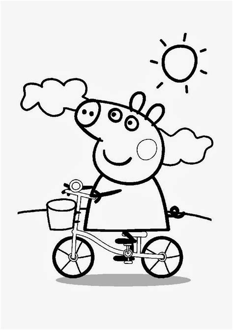 Peppa Pig Para Colorear | free pepa para colorear coloring pages