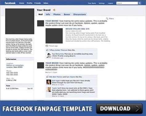 facebook fanpage free psd template over millions vectors