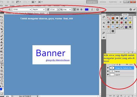 cara design banner guna photoshop tutorial membuat banner dengan photoshop teknik komputer