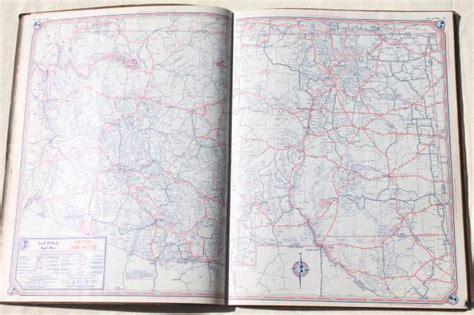 vintage maps lot 40s 50s road map atlas books large