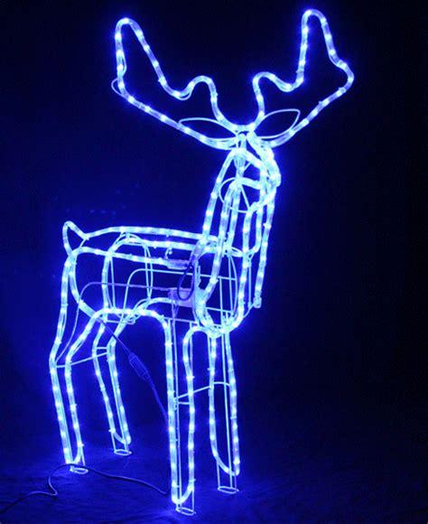 vickysun com animated large led blue 3d reindeer motif