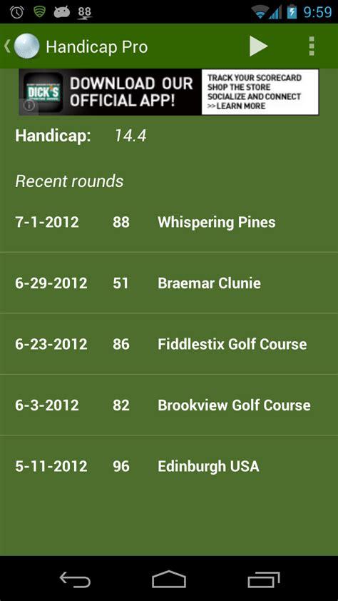 amazoncom handicap golf tracker pro appstore  android