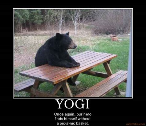 Bear At Picnic Table Meme - yogi bear hey boo boo quotes quotesgram