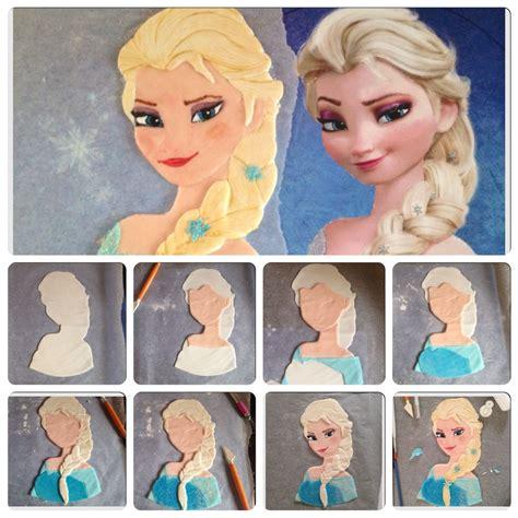 tutorial gaya rambut elsa frozen tutorial elsa per torta frozen frozen elsa cake tutorial
