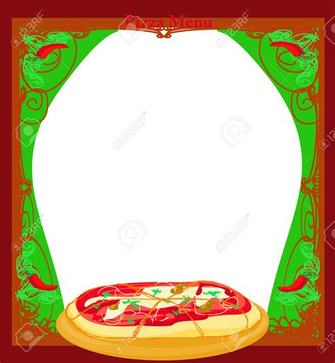pizza menu template templates clipart pizza pencil and in color templates