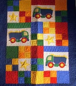 picture 1 of quilt for sale baby quilt quot dump trucks quot