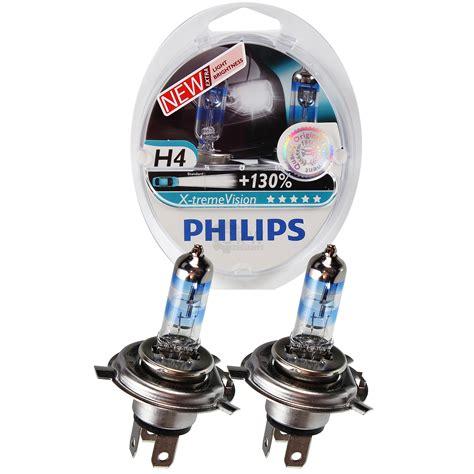 Lu Philips H4 55 60 Watt philips x treme vision 130 2x h4 12v 60 55w p43t 38 hnk