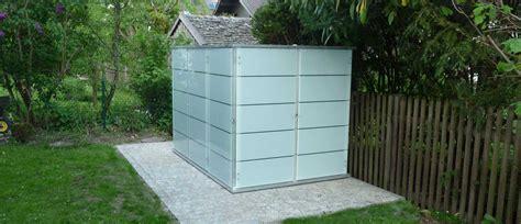 Design Gartenhaus Metall by Gartenhaus Flachdach Modern Garten Q Gmbh