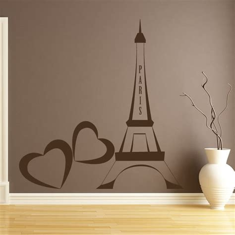 eiffel tower wall decor eiffel tower wall sticker landmark wall