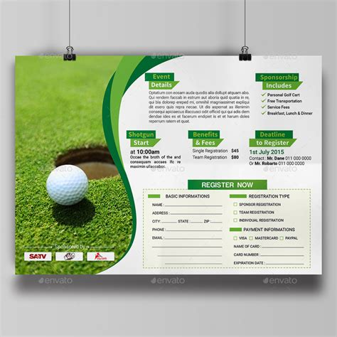 golf brochure templates golf tournament flyer template by aam360 graphicriver