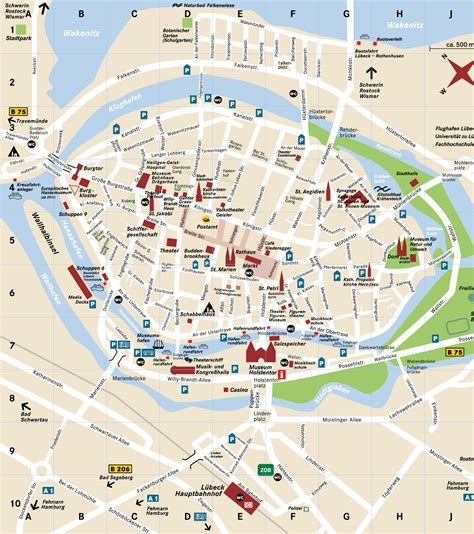 lubeck city map lubeck germany map