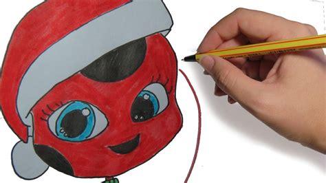 imágenes de navidad para dibujar fáciles como dibujar a tikki de ladybug en navidad dibujos de