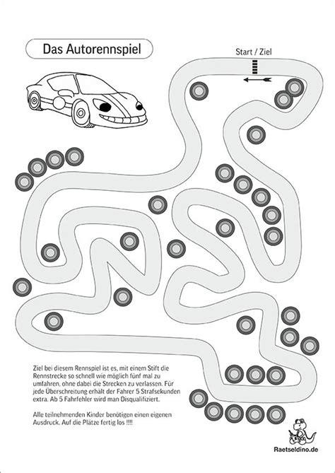 Kinder Auto Spiele by Auto Spiel F 252 R Kinde Pdf Vorlage Download