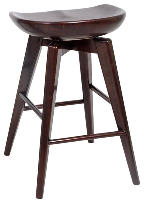 Transitional Bar Stools by Boraam 24 Quot Bali Swivel Stool In Cappuccino Transitional