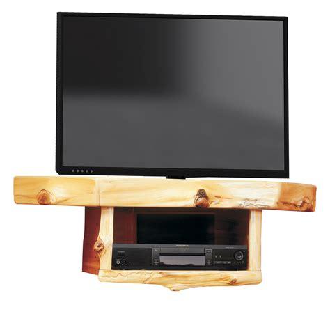 Log Corner Tv Shelf With Dvr Dvd Shelf