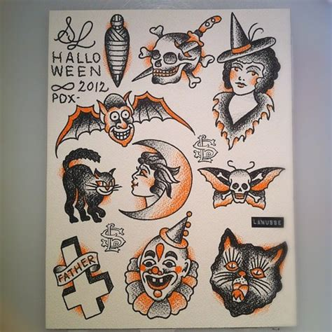 small halloween tattoos small tattoos design