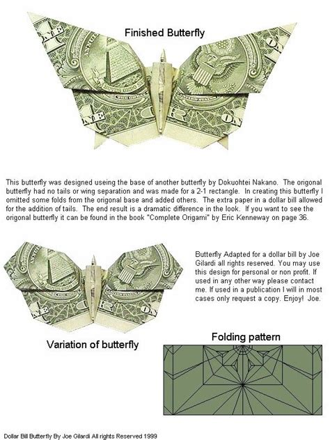 Origami Money Butterfly Folding - 1000 images about origami on origami birds