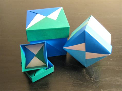 Box In A Box Origami - how to make a tsuzura box origamiginga