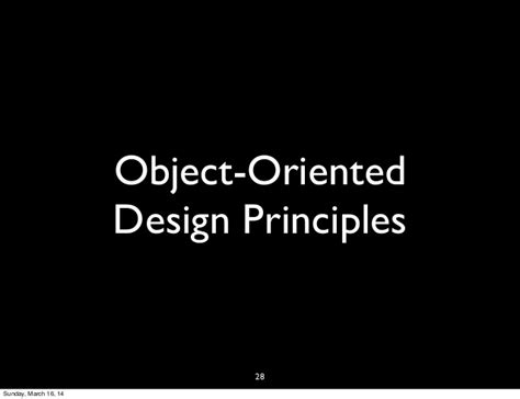 object oriented design principles introduction to object oriented programming design
