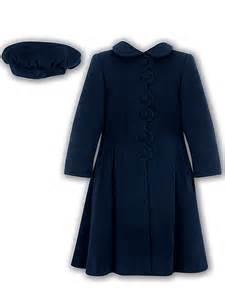 sarah louise little girls navy dress coat winter llbd shop