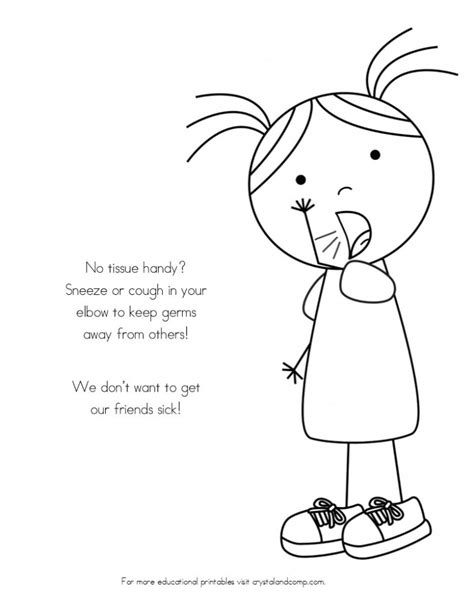 preschool germ coloring pages no more spreading germs coloring pages for kids kids