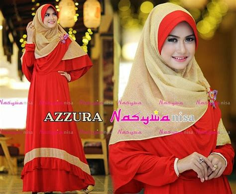 Baju Hello Glitter Ungu Tgn Pjg gaya muslim modern busana muslim terbaru azzura by nasywanisa
