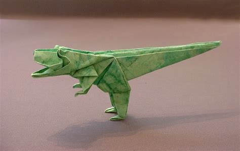 How To Make An Origami T Rex - origami tyrannosaurus rex page 1 of 2 gilad s origami page