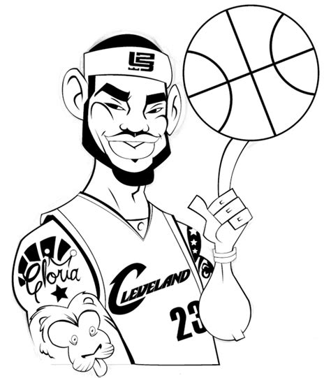 king james coloring pages lebron james garrickmackey29