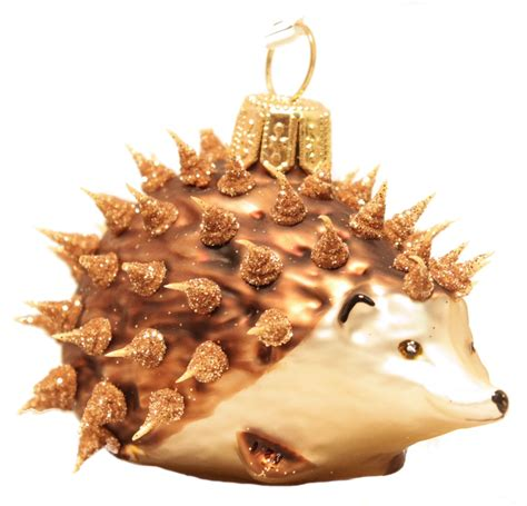 christinas world prickly hedgehog polish glass christmas