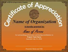 free templates for certificate of appreciation certificate of appreciation template best business template
