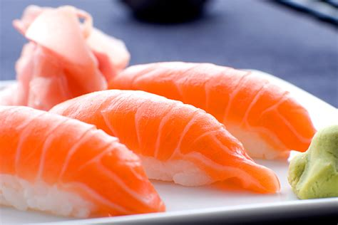 Salmon Sushi different types of fish and how to cook them