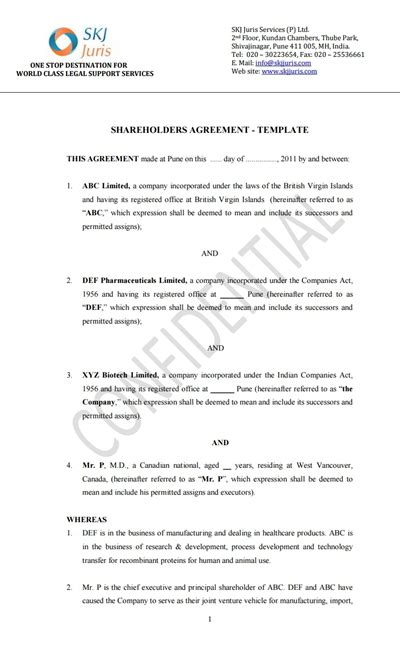 Shareholder Agreement Template Free Download Create Edit Fill Wondershare Pdfelement Shareholder Report Template