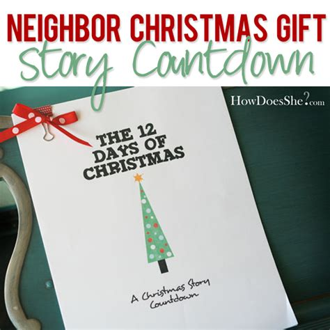 18 neighbor christmas gift story countdown how does she