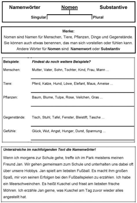 Arbeitsblatt Nomen