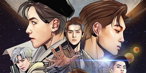 exo album power exo turn into comic book characters for power album cover