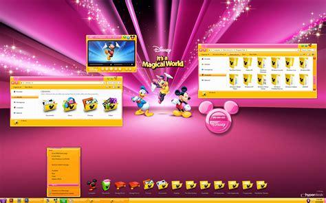 themes for windows 7 disney hyperdesk disneys its a magical world theme for xp