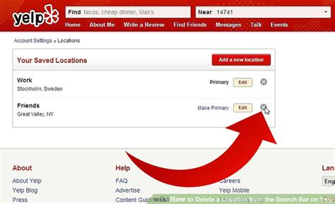 Find On Yelp How To Delete A Location From The Search Bar On Yelp 13 Steps