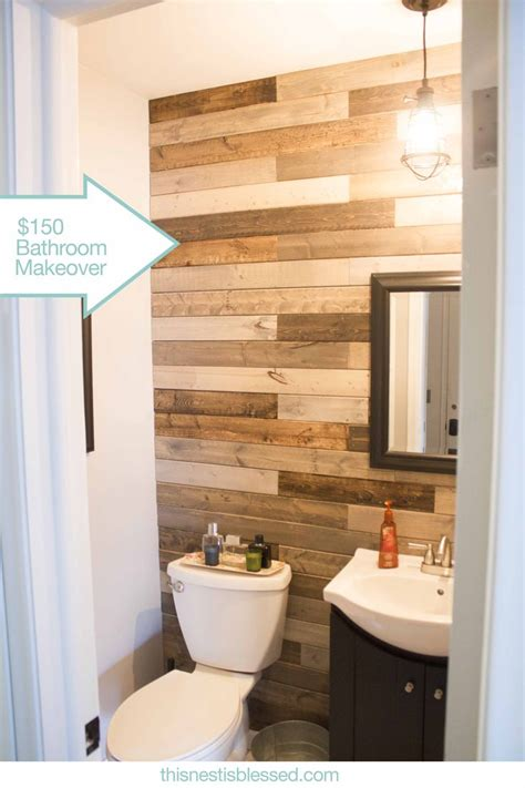 wood walls in bathroom 25 best ideas about pallet wall bathroom on pinterest