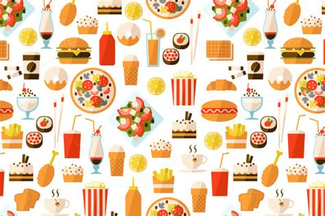 food pattern tumblr fast food wallpaper wallpapersafari