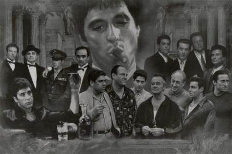 gangsters collage godfather goodfellas scarface sopranos