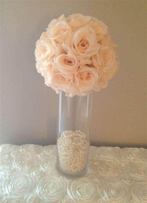 balls centerpieces wedding premium soft silk blush flower wedding