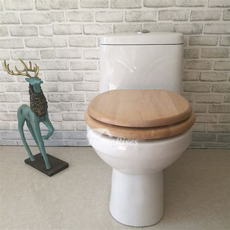 wooden toilet seats slow close stainless steel natural