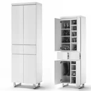 sydney shoe cupboard in high gloss white with 4 doors 19652