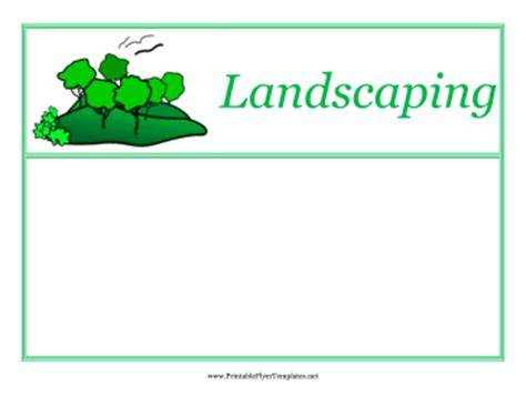 free printable flyers templates landscaping flyers