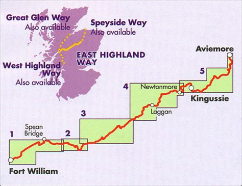 Decorative Scale East Highland Way Fort William To Aviemore Stanfords