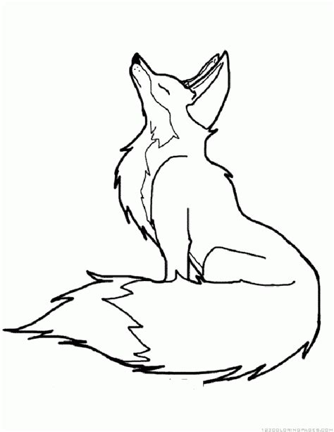Coloring Page Fox by Fox Coloring Pages