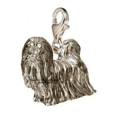 shih tzu charms silver charms on charms griffon bruxellois and chow chow dogs