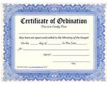 Free Ordination Certificate Template by Pin Free Minister Ordination Certificate Template Image