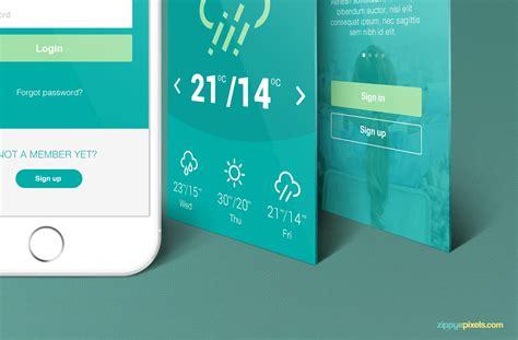 web design mockup app free iphone perspective app screen mockup zippypixels