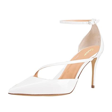 white high heels size 5 guoar womens pointed toe high heel shoes stiletto pumps